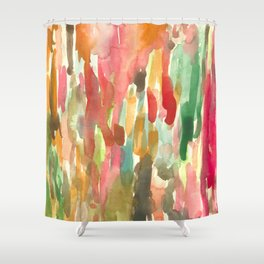 Watercolor Jungle Shower Curtain