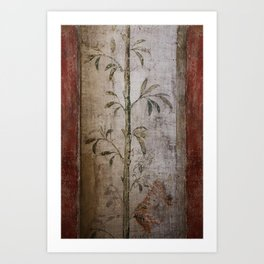 Antique wall painting Art Print