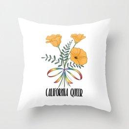 California Queer Throw Pillow