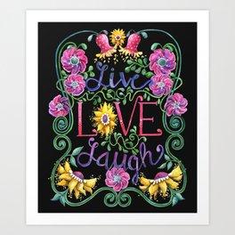 Live Love Laugh II Art Print