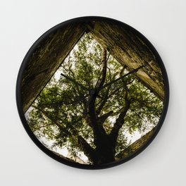 Under the Yew Wall Clock