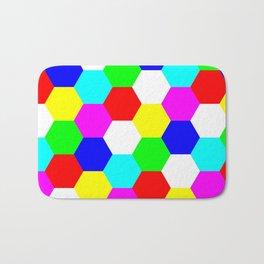 Hexagon Tesselation of Colors Bath Mat