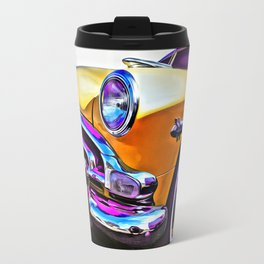 1951 Yellow Hudson Hornet Travel Mug