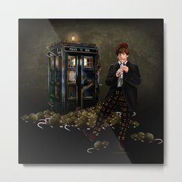 The Doctor Who with magic flute iPhone 4 4s 5 5c 6 7, pillow case, mugs and tshirt Metal Print