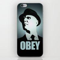fringe iPhone & iPod Skins featuring OBEY (Fringe) by Matheus Lopes