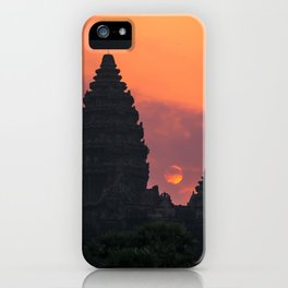 Cloudy sunrise at Angkor Wat iPhone Case