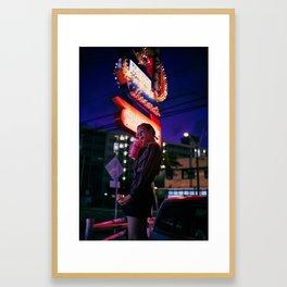 L A L A - T H R E E Framed Art Print