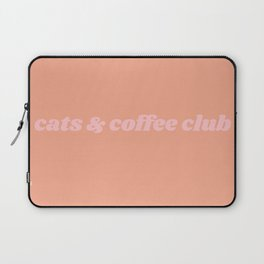 cats & coffee club Laptop Sleeve