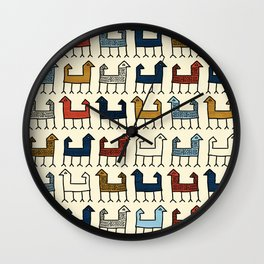Zagros in Cream Wall Clock