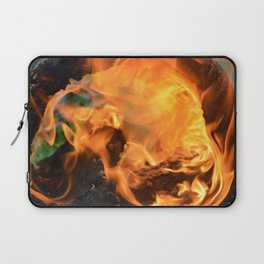 fire in a hollow log Laptop Sleeve