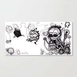 Dark Diary Canvas Print