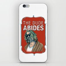 BIG LEBOWSKI- The Dude Abides iPhone & iPod Skin