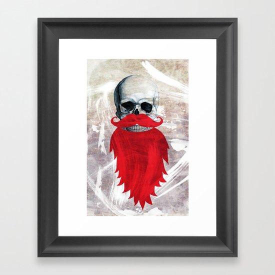 Beard Skull Framed Art Print