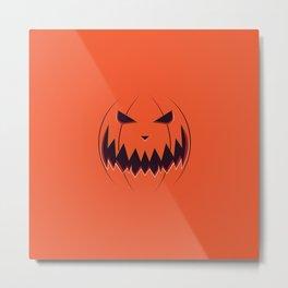Spooky pumpkin face Metal Print