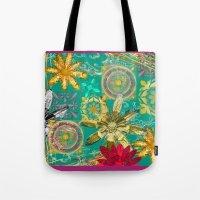 baroque Tote Bags featuring BAROQUE by PRIMKASTUDIO