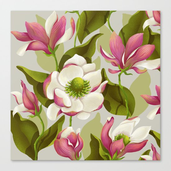 magnolia bloom - daytime version Canvas Print