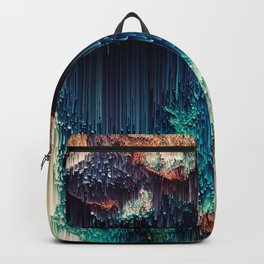 Cave of Wonders - Abstract Glitch Pixel Art Backpack