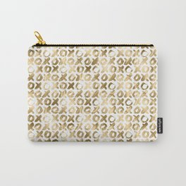 XOXO Love Me Gold Pattern 2 Carry-All Pouch