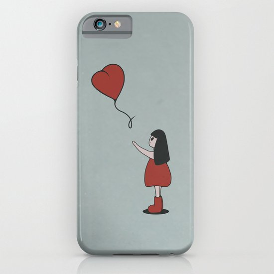 Girl with a Heart-Shaped Balloon iPhone & iPod Case