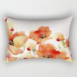 Beautiful Poppies #society6 Rectangular Pillow