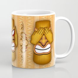 Don't See Don't Hear Don't Speak Totems Coffee Mug
