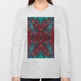 Emerald tree geometry III Long Sleeve T-shirt