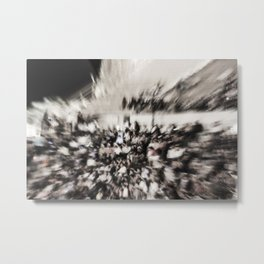 Crowd of people Metal Print