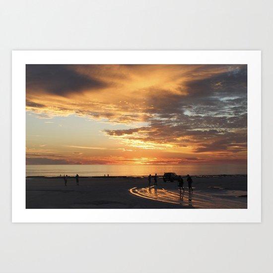 sunset over Broome Art Print