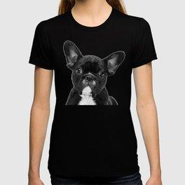 Black and White French Bulldog T-shirt