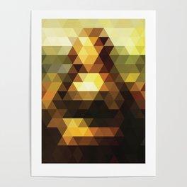 Mona Lisa remixed #2 Poster
