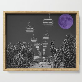 Chair Lift to the Purple Moon Serving Tray