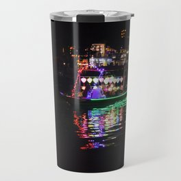 Riverside lanterns and boats at night Hoi An Vietnam Travel Mug
