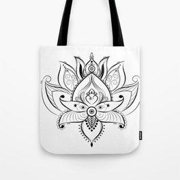 Flor de loto Tote Bag