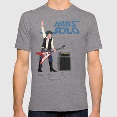 Han's Solo MEDIUM Mens Fitted Tee Tri-Grey
