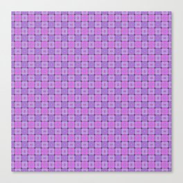 Violet Geometrical Pattern Canvas Print