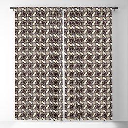 HOLME neutral palette beige cream black & periwinkle geometric Blackout Curtain