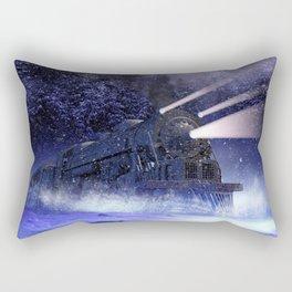 Snowy Night Train Rectangular Pillow