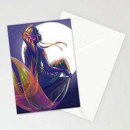 October- Birthstone Mermaid Series Stationery Cards