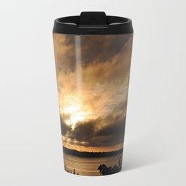 Misty Sunset on the PI Basin Travel Mug