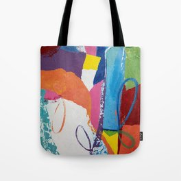 Vibrant Loopy Abstract Tote Bag
