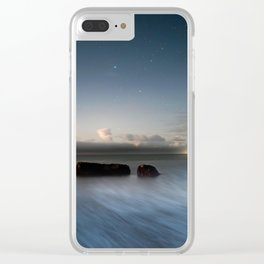Castle Cove Moonrise Clear iPhone Case