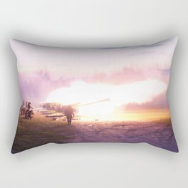 Battle scene with Artillery guns. Rectangular Pillow