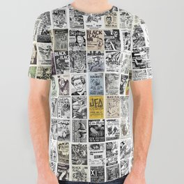 1980's Vintage Punk Flyers All Over Graphic Tee
