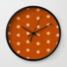 """Polka Dots Degraded & Orange Cream"" Wall Clock"