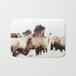 WILD AND FREE 2 - HORSES OF ICELAND Bath Mat