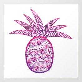 UrbanNesian Purple & Magenta Fineapple Art Print
