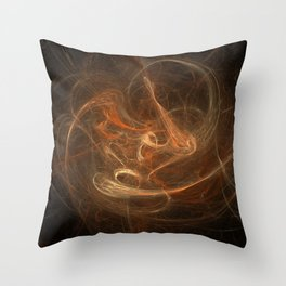 Lonely Thing - Warm Chromatic Throw Pillow