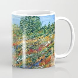 Summer In The Meadows, Impressionism floral landscape Coffee Mug