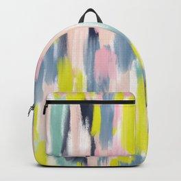 Abstract Brush Stroke Art in Modern Color Palette Backpack