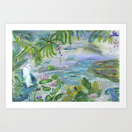 Pond in the Morning Art Print